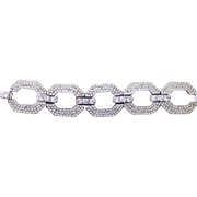 Jay Feinberg a.k.a. Strongwater 1980's Runway Couture Rhinestone Chunky Large  Bracelet