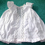 "SALE Sweet cream poke-a-dot Dress for 16-18"" bisque dolls"