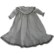 """Polished Cream Cotton Kate Greenway Style Dress for 20-24"""""""