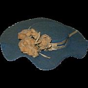 Vintage Blue Felt Hat