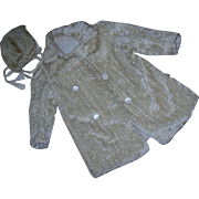 Fabulous Textured Mohair Child's coat & Bonnet