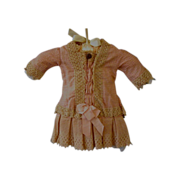 Peachy Pink Dress for a 19'' French or German Doll
