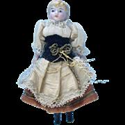 4 1/2'' All Original German Dollhouse Kling Doll