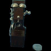 Antique Miniature Crank Wall Phone