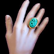 Vintage Avon Faux Jade Perfume Ring