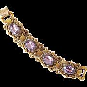 Florenza Lavender Crystal Bracelet