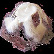 White Fur Trim Caplet