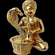 Hattie Carnegie Snake Charmer Pin - Maharajah Series