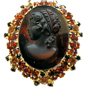 Delizza and Elster (AKA:  Juliana) Cameo Brooch - Book Piece