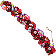 Kramer Red Cabochon Stunner Bracelet