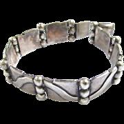 Hector Aguilar Taxco Silver Bracelet - Book Piece