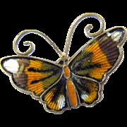 David Andersen Silver Monarch Butterfly Pin