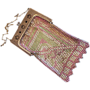 Whiting and Davis 1920's Metal Flapper Purse