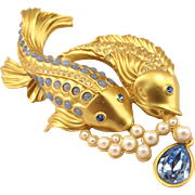 "Elizabeth Taylor for Avon ""Sea Shimmer"" Koi Fish Brooch"