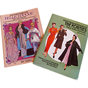 SALE Tom Tierney Fashion Designs Uncut Paper Dolls - Belle Epoque and Forties