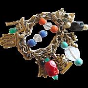 Vintage Asian Symbol Charm Bracelet