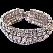 Weiss Clear Rhinestone Wide Bracelet
