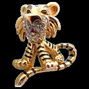 "Jomaz Figural Tiger Pin  ""Book Piece"""