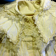 SOLD Pale Honey Child or Baby Coat or Gown made of Silk and Lace