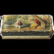 Baxter Needle Box from 'Tarantella' Set, c1850