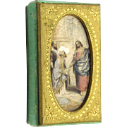 SOLD Baxter Needle Box 'Religious Events Set', mid-19th Century