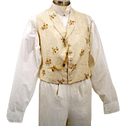 Embroidered Silk Waistcoat for a Gentleman, early Victorian