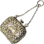 Sterling Silver Coin Purse for a Chatelaine or a Doll, c1900
