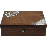 Pin Box of Sterling Silver & Oak, c1904-1905