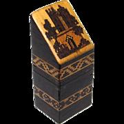 Quality Tunbridge Needle Box in Knife Box-form, Victorian