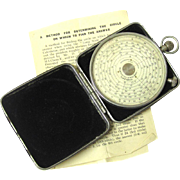 Vintage Fowler's Pocket Watch-form Calculator in Protective Square Case