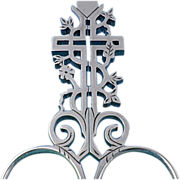 One of a kind Fab Steel French Embroidery Scissors In the Form Of An Ornate ...
