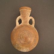 SALE __SALE__Pre Colombian Clay Vessel 2 Handle Water Bottle