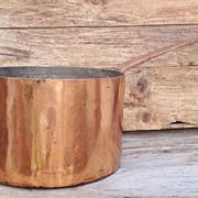 SALE Early 19th Century Dovetail Copper Saucepan circa 1820