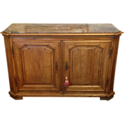 SALE 19th C. Louis XVI Style Walnut Buffet with Marble top
