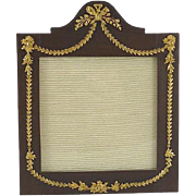 Antiqure French Wood & Gilt Picture Photo Frame Torch and Arrow Motif