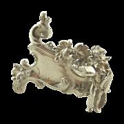 Antique Silver Cherub Menu Holder Neresheimer Import Berthold Mueller