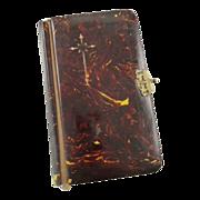 Vintage First Communion Book Marbleized Binding Primera Comunión