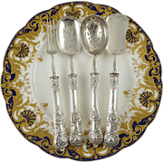 Antique French Sterling Silver Hors d'oeuvre Service Set of Four