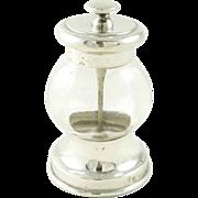 Antique Sterling Silver Pepper Grinder English Birmingham 1908