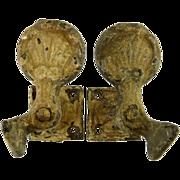 Pair of Cast Iron Shutter Tiebacks Shell Design Shutter Dogs