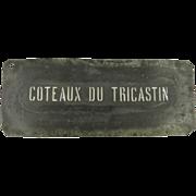 Vintage Wine Stencil for Côteaux du Tricastin Wine Region