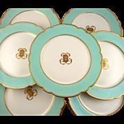 Antique Old Paris Porcelain Dessert Service Luncheon Set