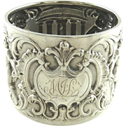 SOLD Antique English Sterling Silver Napkin Ring Hallmarked for Sheffield, 1894