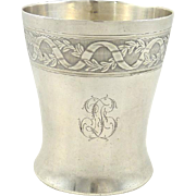 Antique French Sterling Silver Timbale Goblet or Cup by  Gaston Bardies, Paris