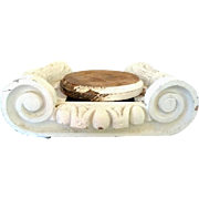 Vintage Ionic Capital Architectural Salvaged for Display or Centerpiece