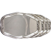 SOLD Puiforcat French Silver Trays Set of Four for Drinks Appetizer Serving