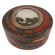 18th. Century Vernis Martin Box~Mother of Pearl, Gold Trim & Abalone