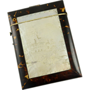 Antique Mother of Pearl & Tortoise Shell Card Case Circa 1850