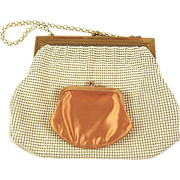 SALE PENDING Vintage Metal Mesh Whiting & Davis Bag with Coin Purse