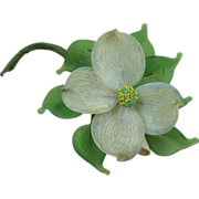 Gorgeous 1940's Dogwood Corsage-Style Brooch
